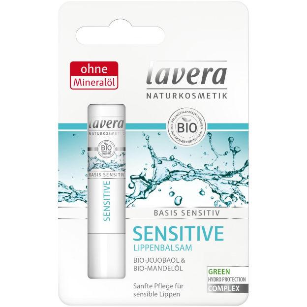 sehr gut im Test von Öko-Test 1/2021: Lavera Basis Sensitiv Lippenbalsam