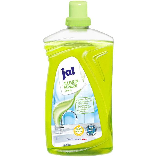 sehr gut im Test von Öko-Test 11/2020: Ja! Allzweck-Reiniger Lemon (REWE)
